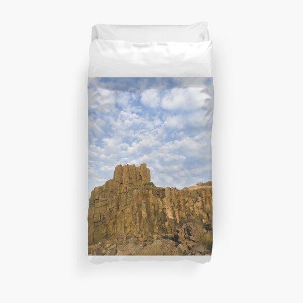 Quarry Rock in Sunset's Light Duvet Cover