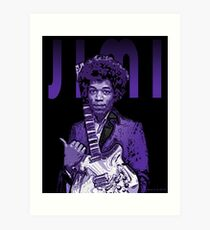 Purple Hendrix Art Print