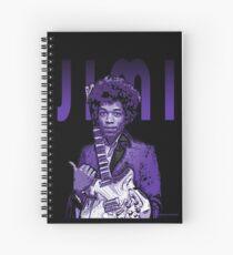 Purple Hendrix Spiral Notebook