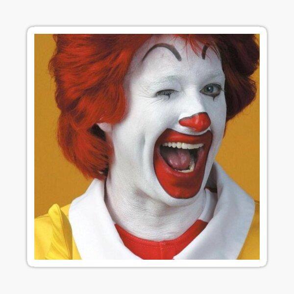 "4 Ronald McDonald Stickers 2/"" Round"