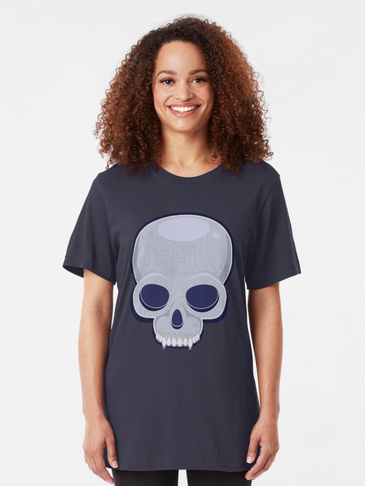 Alternate view of Skull in blue Slim Fit T-Shirt