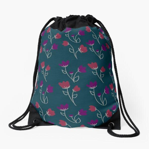 Loose floral pattern Drawstring Bag
