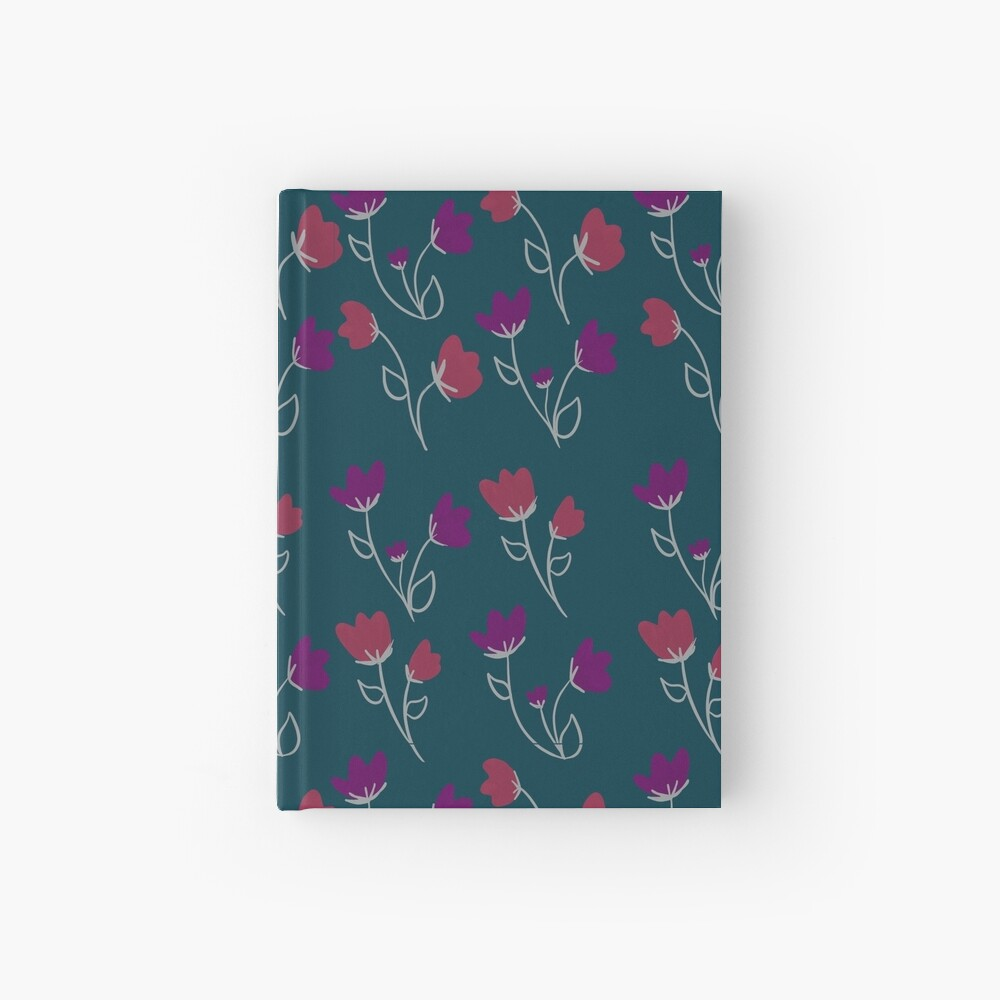 Loose floral pattern Hardcover Journal