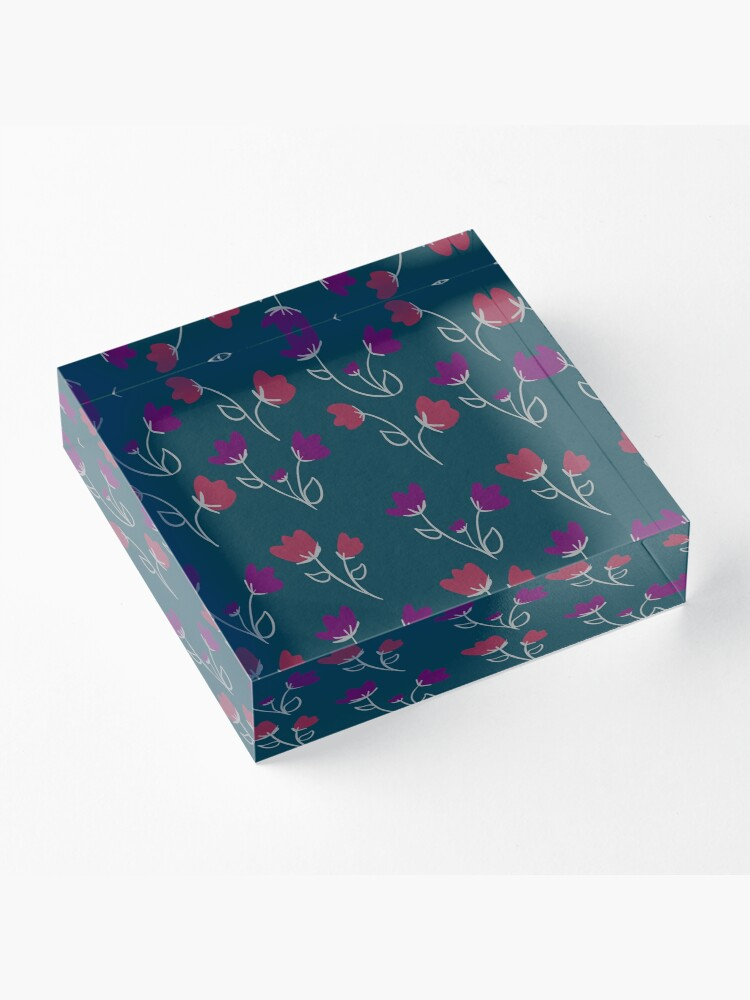 Alternate view of Loose floral pattern Acrylic Block