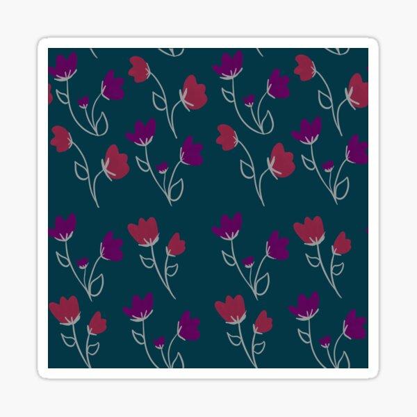 Loose floral pattern Sticker