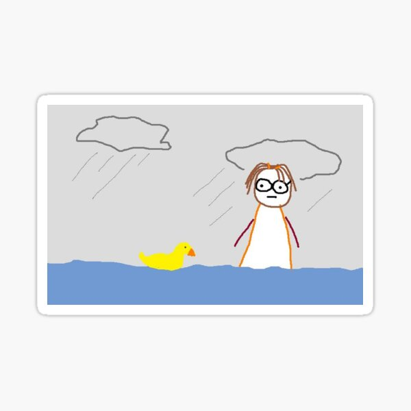 Jenny Quips:  It Rained for 40 days Sticker
