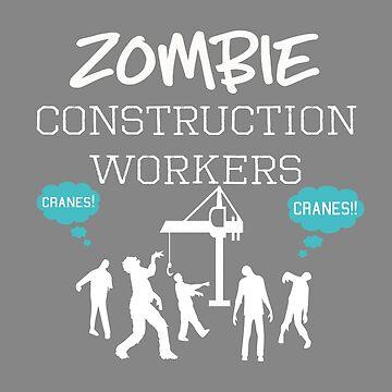 Fun Halloween Zombie Construction Worker Design by LGamble12345