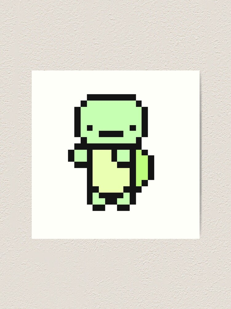 Cute Pixel Art Turtle Art Print By Gwynnybean Redbubble