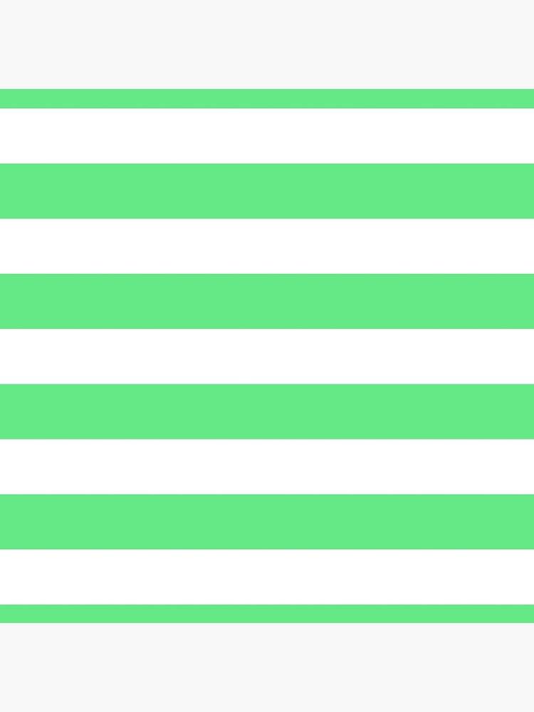 Algae Green and White Horizontal Cabana Tent Stripes by honorandobey
