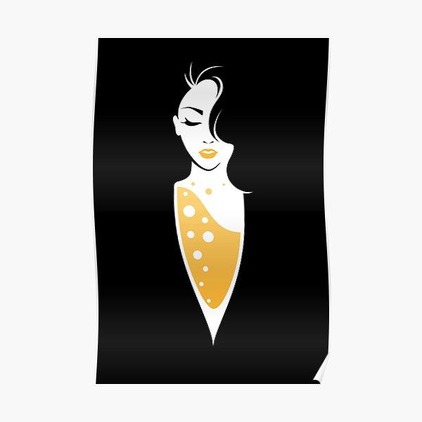 Femme Champagne Poster