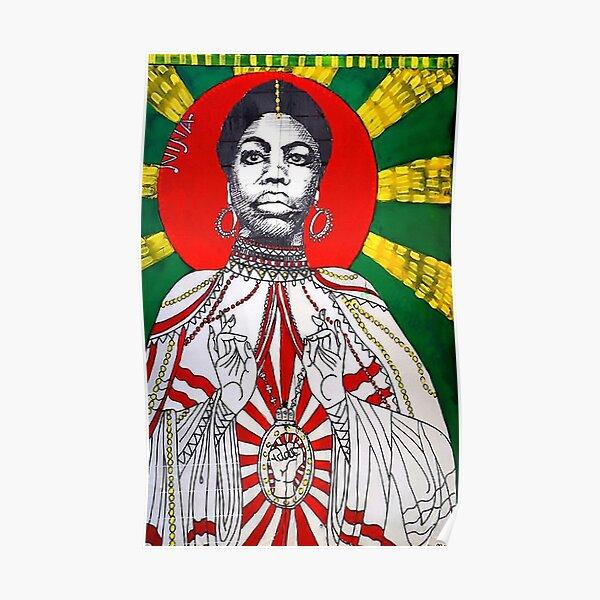 Nina Simone mural Poster
