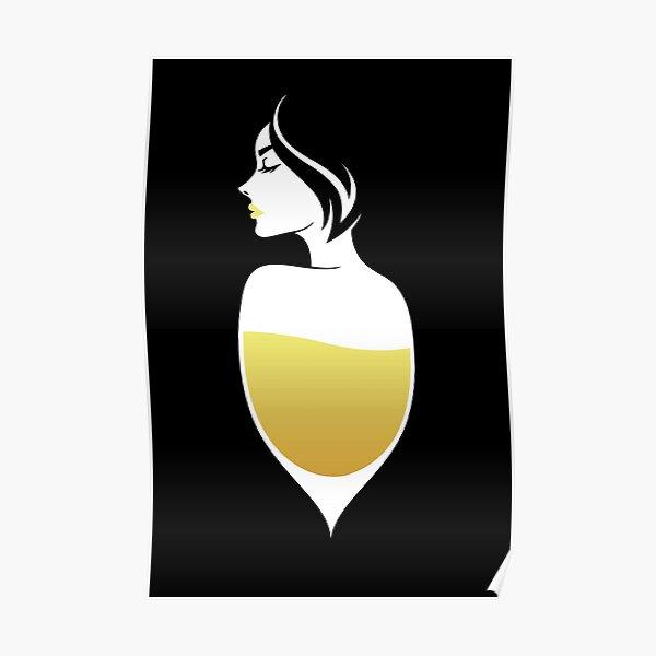 Femme Vin Blanc Poster