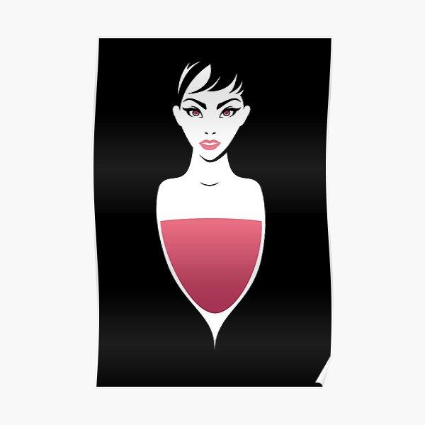 Femme Vin Rosé Poster