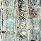 Old and New frieze around north Door Lichfield England 19840926 0037 by Fred Mitchell
