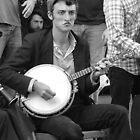 Street Musician on Banjo by Lesley Rosenberg