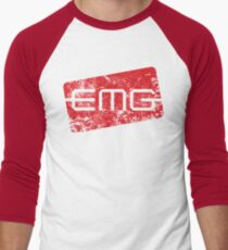 EMG Pickups distressed logo Men's Baseball ¾ T-Shirt