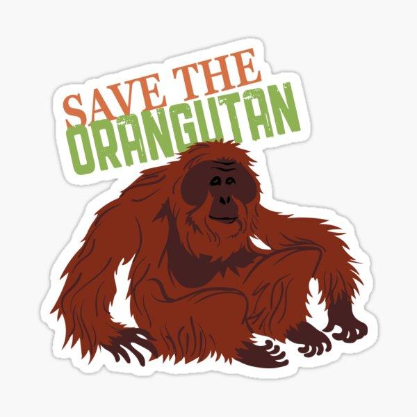 Save the Orangutan Sticker