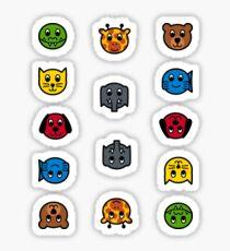 English AnimalNoteHeads Stickers Sticker
