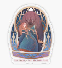 The Bear & The Maiden Fair Transparent Sticker