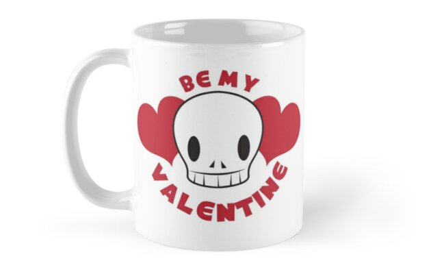 BE MY VALENTINE skull and hearts by jazzydevil