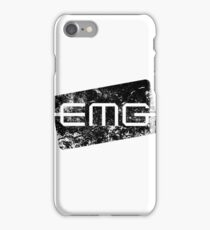 EMG Pickups distressed logo Black iPhone Case/Skin