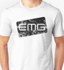 EMG Pickups distressed logo Black T-Shirt