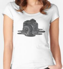 Camera Melt Women's Fitted Scoop T-Shirt