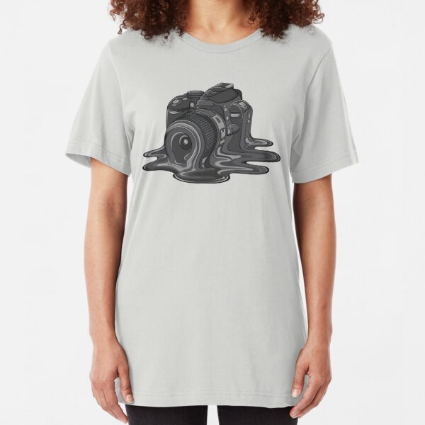 Camera Melt Slim Fit T-Shirt