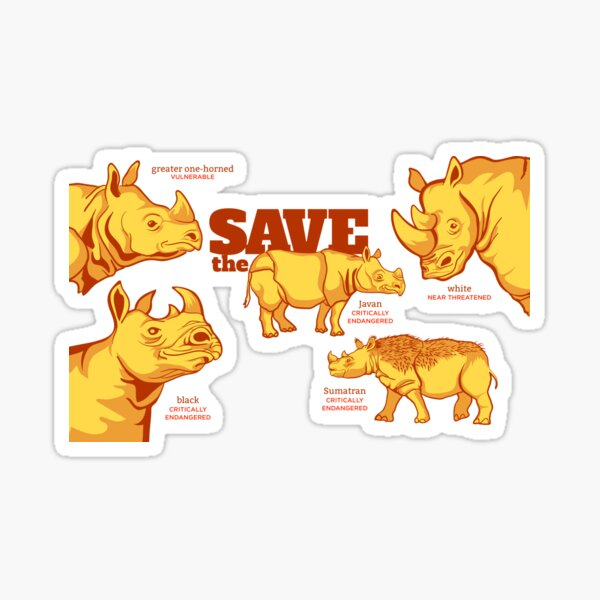 Save the Rhino Sticker