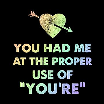 Grammar Geek Educator Had Me at Proper Use of You're by KanigMarketplac