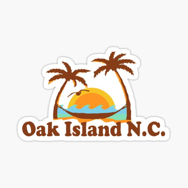 Oak Island - North Carolina.  Sticker