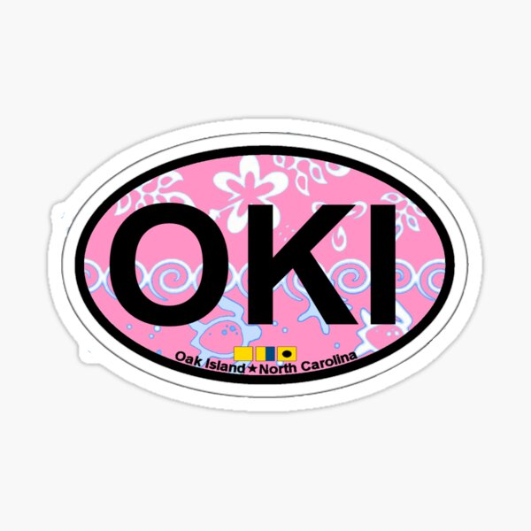 Oak Island. Sticker