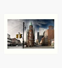 Flatiron building in Toronto -2 Art Print