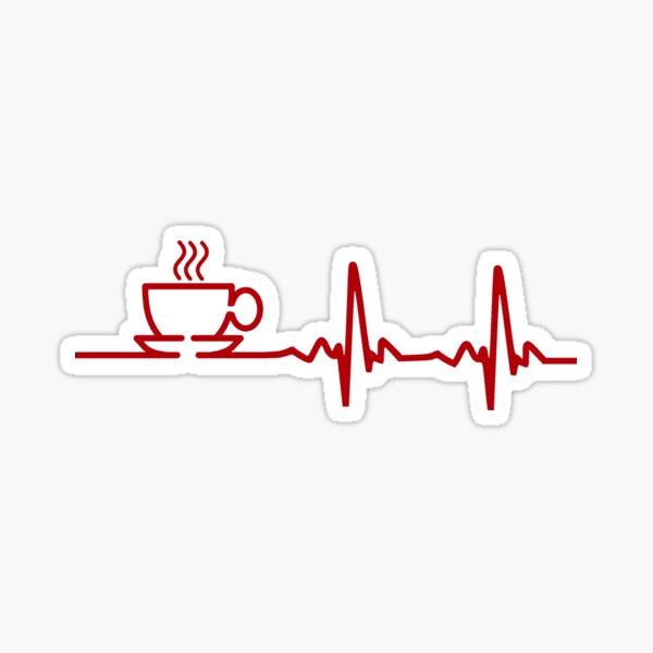 ¡lo que realmente necesitas como una buena taza de café caliente! Ideal para los amantes del café y la cafeína en todas partes. Pegatina