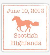 Brave Scottish Highlands Sticker