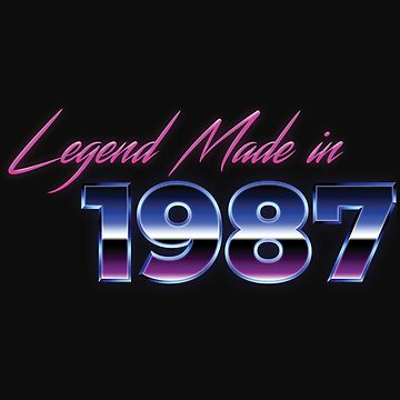 Retro 80s Shirt Born in 1987 Vintage Birthday Gift by normaltshirts