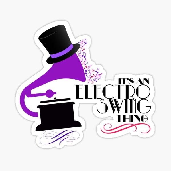 Electro Swing Sticker