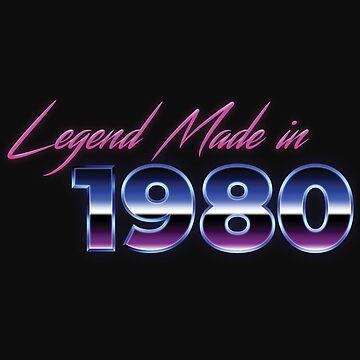 Retro 80s Shirt Born in 1980 Vintage Birthday Gift by normaltshirts