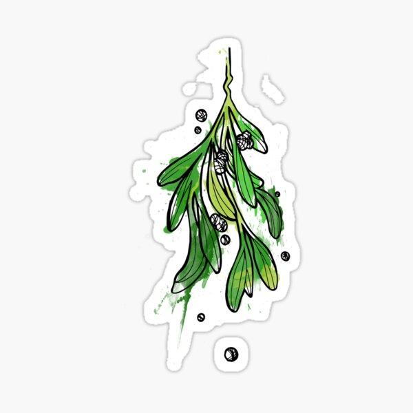 Christmas Mistletoe Sticker