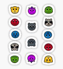 Español AnimalNoteHeads Stickers Sticker