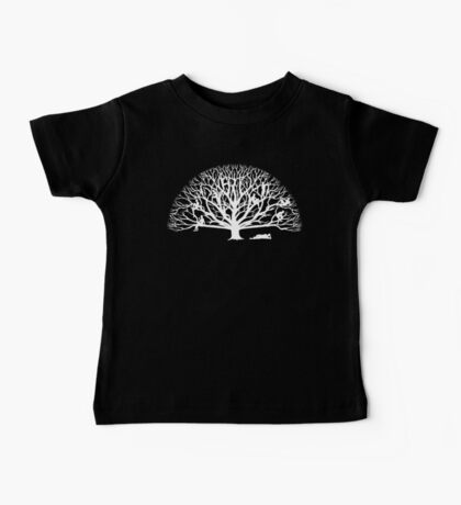 Tree Dwelling White Silhouette Kids Clothes