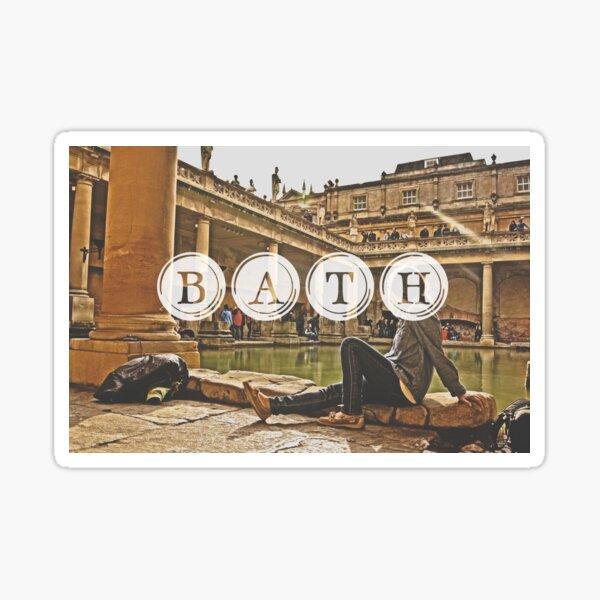 Bath Typography Print Sticker