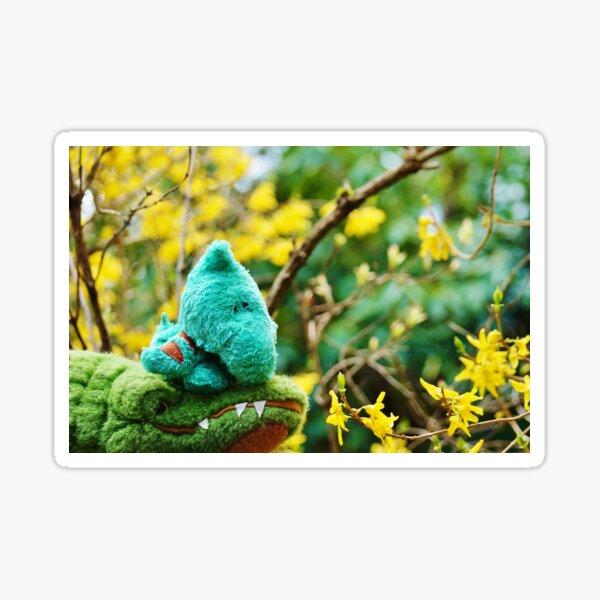 Gator McBumpypants and Herman smell the flowers Sticker