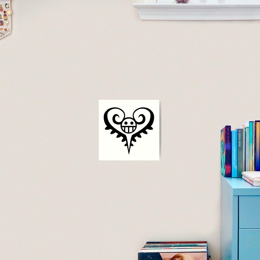 Trafalgar Law Heart Tattoo Art Print