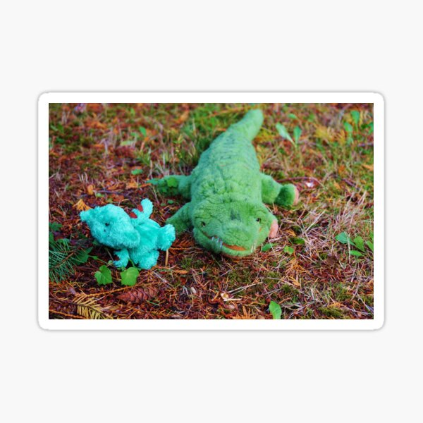 Gator McBumpypants and Herman the baby Pterodactyl Sticker