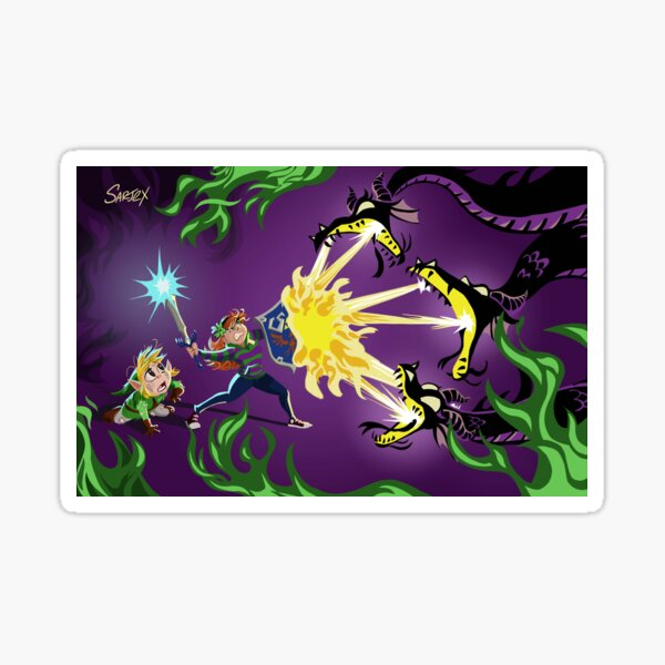 Vivian James & Link Purple Sticker