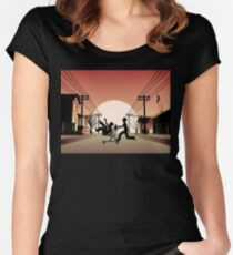 Sunset Suburban Women's Fitted Scoop T-Shirt
