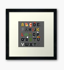 Pop culture alphabet Framed Print