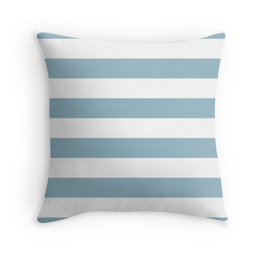 Baby Blue and White Horizontal Cabana Tent Stripes