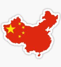 Flagge Karte von China Sticker